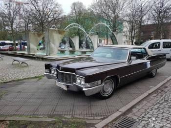 Klasykiem do ślubu - Cadillac Coupe De Ville z 1969r., Samochód, auto do ślubu, limuzyna Białogard