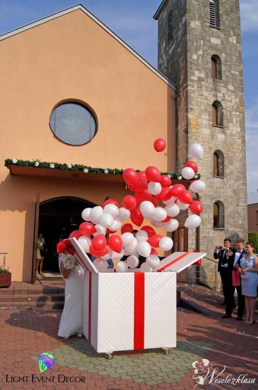 PREZENT XXL z balonami | *HEL* |  Balony LED | foliowe | BAŃKI MYDLANE, Końskie - zdjęcie 1