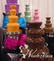 Fontanna czekoladowa z podestami LED, Czekoladowa fontanna Otmuchów