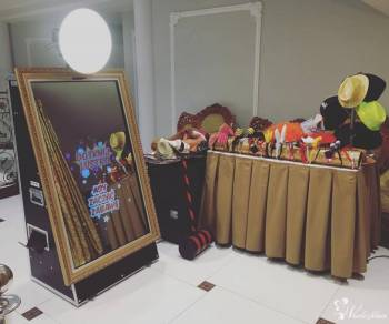 Fotobudka-Lustro,pakiet lustro+dekoracje taniej! Fotolustro kreatywnia, Fotobudka, videobudka na wesele Nowy Tomyśl