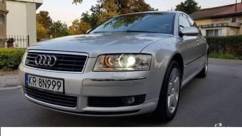 Audi A8 Long, Samochód, auto do ślubu, limuzyna Ryglice