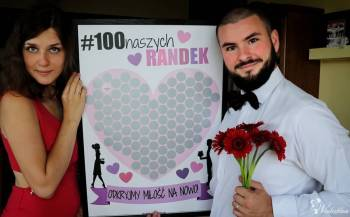 Miłosny plakat ze zdrapką dla pary #100naszychRANDEK, Prezenty ślubne Inowrocław