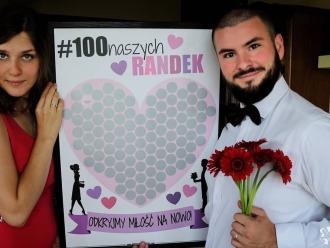 Miłosny plakat ze zdrapką dla pary #100naszychRANDEK, Prezenty ślubne Brodnica