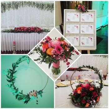Dekolina - Dekoracje Ślubne. Dekoracja sali weselnej, Kościoła,bukiety, Dekoracje ślubne Wyśmierzyce