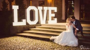 Podświetlany napis LOVE - wynajem, Napis Love Myślenice