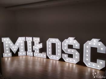 Napis MIŁOŚĆ LED na Twoje wesele!, Dekoracje światłem Pruszków