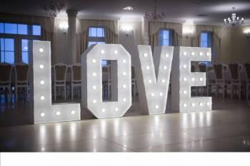 PODŚWIETLANY NAPIS LOVE 120cm, Napis Love Golub-Dobrzyń