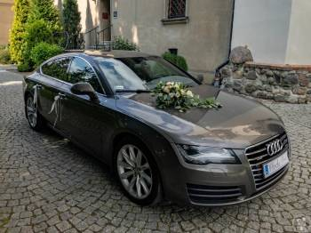 Eleganckie Audi A7 do ślubu lub sesję zdjęciową - wolne terminy, Samochód, auto do ślubu, limuzyna Murowana Goślina