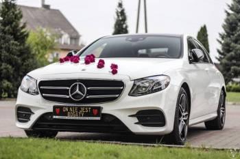 Mercedes E klasa W213 2018r. biały AMG dach panoramiczny Garaż Braci, Samochód, auto do ślubu, limuzyna Grójec