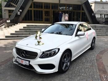 AUTO DO ŚLUBU biały Mercedes C w pakiecie AMG, Samochód, auto do ślubu, limuzyna Żelechów