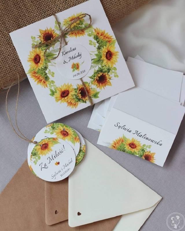 Zaproszenia ślubne, winietki, księgi gości, zawieszki, Leżajsk - zdjęcie 1