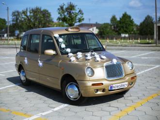 Auto do ślubu Londyńska taksówka LTI,  Wieluń