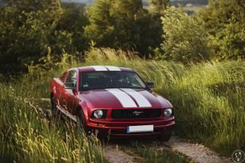 Czerwony Ford Mustang, Samochód, auto do ślubu, limuzyna Oświęcim