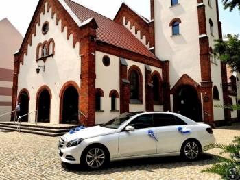Mercedes do ślubu biały limuzyna samochód do ślubu E klasa, Samochód, auto do ślubu, limuzyna Grabów nad Prosną