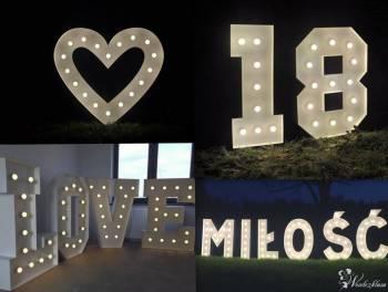 Napisy LED - LOVE MIŁOŚĆ serce 18 i 40, Napis Love Sierpc