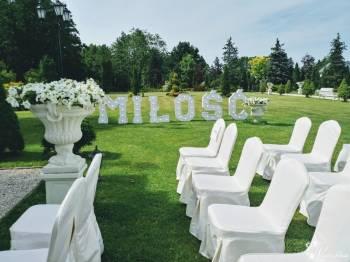 Napis MIŁOŚĆ z Czas się Weselić, Dekoracje ślubne Drobin