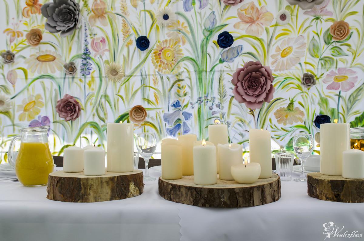 Dekoracja sali weselnej wypożyczalnia dekoracji ścianki florystyka ślu, Brzesko - zdjęcie 1
