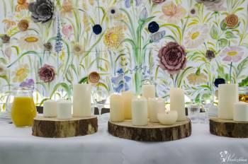 Dekoracja sali weselnej wypożyczalnia dekoracji ścianki florystyka ślu, Dekoracje ślubne Dobczyce