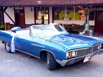 Wynajem auto samochód do ślubu Buick Electra 225 kabriolet 6 miejsc,  Olsztyn