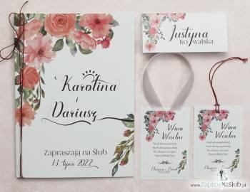 Zaproszenia ślubne, winietki, zawieszki, menu, śpiewniki..., Zaproszenia ślubne Leżajsk