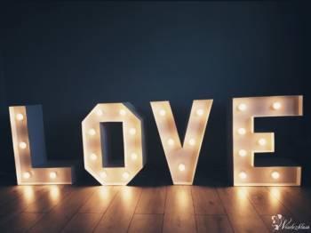 Świecący napis LOVE, Napis Love Płock