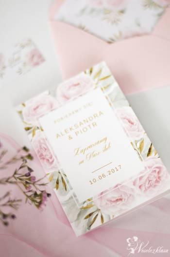 Nietypowe zaproszenia ślubne Projektornia design, Zaproszenia ślubne Zakroczym
