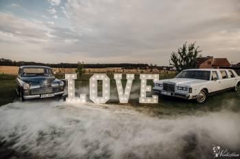 Limuzyna Lincoln Warszawa 203 Porsche | Napis LOVE | Ciężki DYM!, Samochód, auto do ślubu, limuzyna Kluczbork