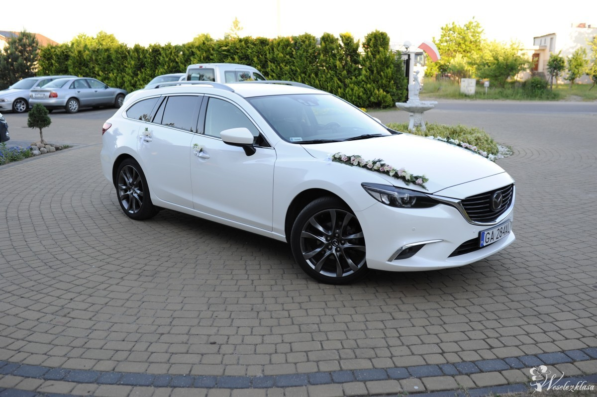 Auto do ślubu - Mazda 6, biała perła, Gdynia - zdjęcie 1