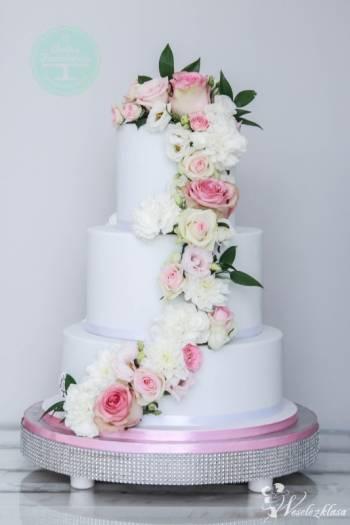 Pracownia Artystyczna Słodka Fanaberia - tort weselny, słodki stół, Tort weselny Kruszwica