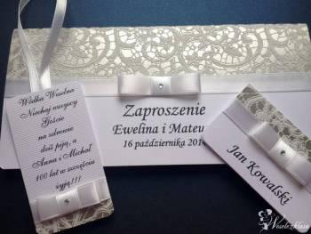 Zaproszenia, winietki, zawieszki, menu weselne, Zaproszenia ślubne Brześć Kujawski