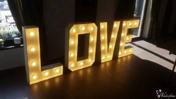 Podświetlany napis LOVE dekoracja światłem, Napis Love Bielsko-Biała