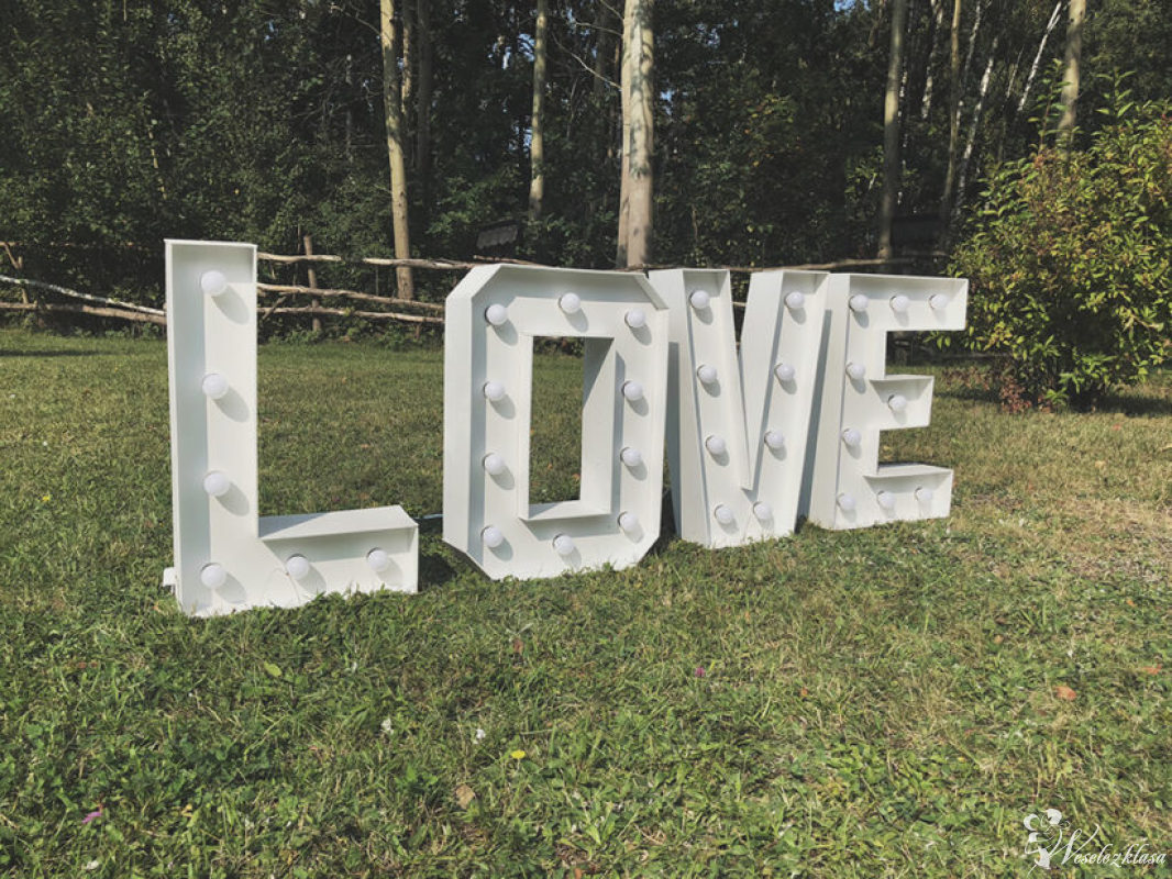 świecący napis LOVE dwa rozmiary wynajem tanio !!, Częstochowa - zdjęcie 1