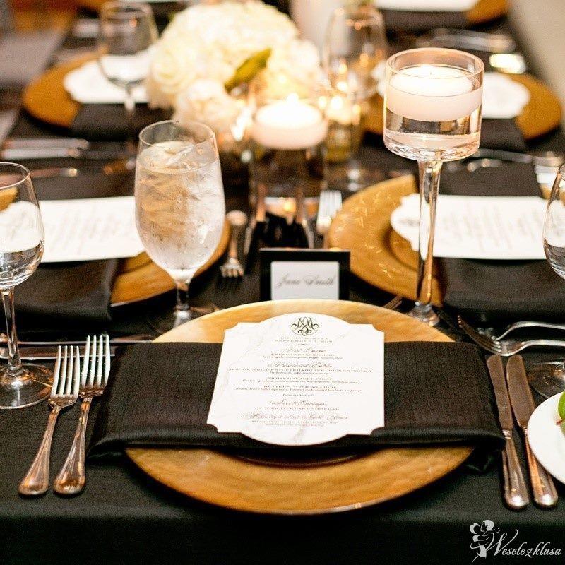 podtalerze złote/srebrne dekoracja stołu wynajem !!, Częstochowa - zdjęcie 1