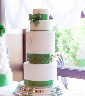 Najpiękniejsze torty weselne - Cukiernia Artystyczna KARMELOWE, Tort weselny Dobra Wielkopolskie