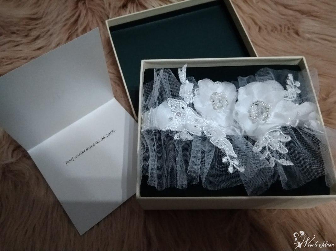 Podwiązka ślubna, podwiązki szyte na miarę, indywidualne projekty, Nisko - zdjęcie 1