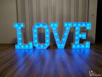 FunFotoParty - Napis LOVE LED zmiana koloru żarówek przy pomocy pilota, Napis Love Przecław
