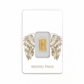 Sztabka złota- oryginalny prezent, pierwsza wspólna inwestycja, Prezenty ślubne Międzyrzecz