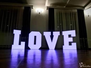 Napis litery LOVE podświetlany LED RGB na wesele Różne kolory! WYNAJEM, Dekoracje światłem Pruszków