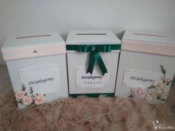 Pudełko na koperty, pudełka, pudełka personalizowane, Prezenty ślubne Jedlicze