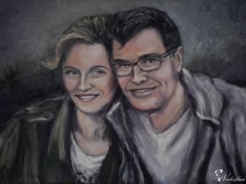 Portrety ślubne malowane ze zdjęcia, Artykuły ślubne Drawno