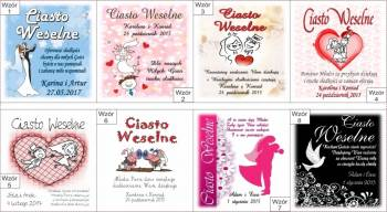 Etykiety weselne, zawieszki, podziękowania dla gości  naFlache, Artykuły ślubne Wieliczka