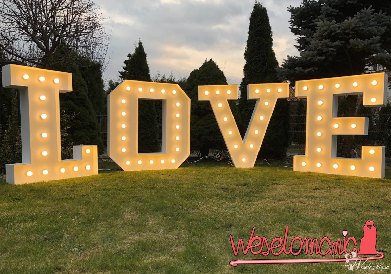 Wielkie Litery 3D, Napis LOVE LED Wynajem na wesele, ślub, eventy., Wrocław - zdjęcie 1