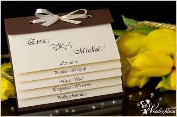 Z jak Zaproszenia ślubne, na ślub, zawiadomienia, Zaproszenia ślubne Sławno