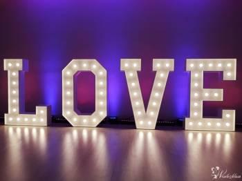Napis LOVE | Ciężki dym | Dekoracja Światłem, Napis Love Drobin