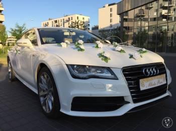 BIAŁE AUDI A7 + DEKORACJA lub PASSAT CC - WOLNE TERMINY - od 499 PLN, Samochód, auto do ślubu, limuzyna Łódź