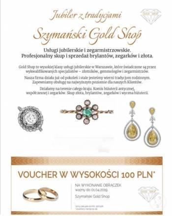 Szymanski Gold-Shop, Obrączki ślubne, biżuteria Sulejówek