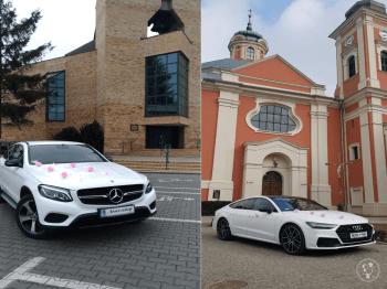 Mercedes SUV coupe i Audi A7, Samochód, auto do ślubu, limuzyna Ślesin