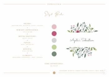Branding ślubny, zaproszenia, winietki, oprawa graficzna, Zaproszenia ślubne Sułkowice