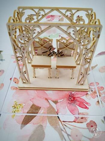 Opolska Dekoratornia zaproszenia, exploding box, winietki handmade, Zaproszenia ślubne Ozimek