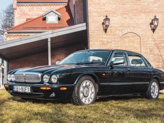 Jaguar Daimler Super V8, zielony,  Czechowice-Dziedzice